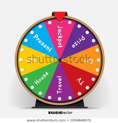 Kerék nyolc lottó tárgy hazárdíroz főnyeremény Stock fotó © romvo
