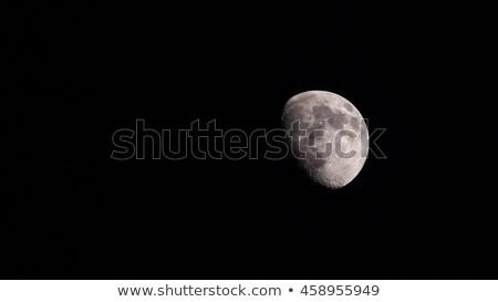 Balmumu ay manzara görüntü yalıtılmış siyah Stok fotoğraf © suerob