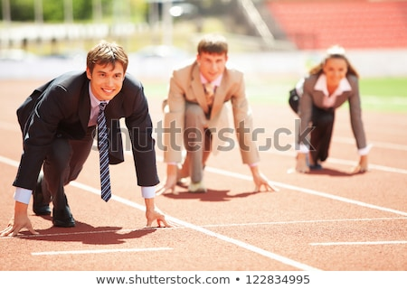 group of businesspeople in a field stock photo © is2