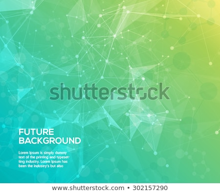 Abstract green color science background with connection dots and lines Stock photo © designleo
