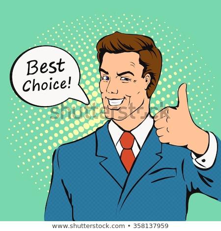 Cartoon hand gebaar sterren ontwerp Stockfoto © hittoon