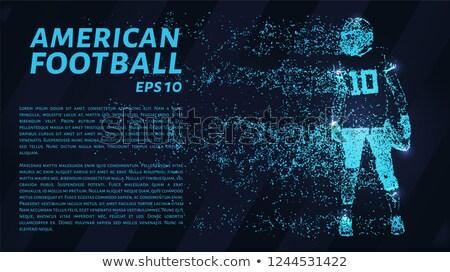 Yaratıcı futbol parçacıklar soyut dünya arka plan Stok fotoğraf © SArts