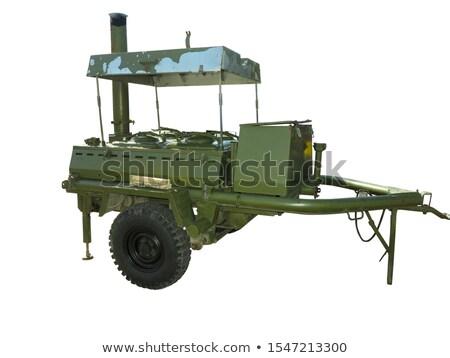 Sovjet- tank geïsoleerd witte zwaar model Stockfoto © Nobilior
