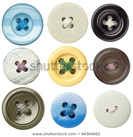 kırmızı · iplik · düğmeler · moda · çalışmak · kumaş - stok fotoğraf © OleksandrO
