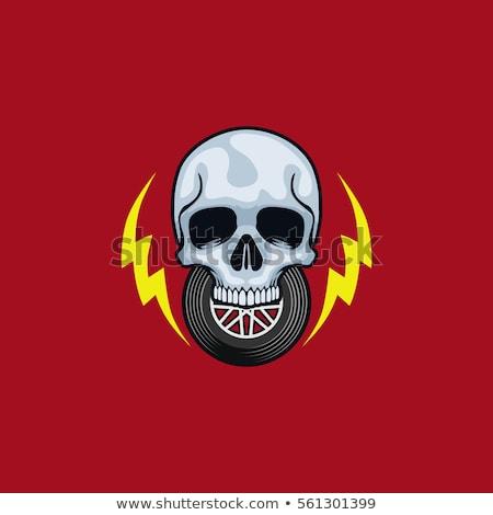 ストックフォト: Fire Wrench And Gear Wheel - Logo Sign