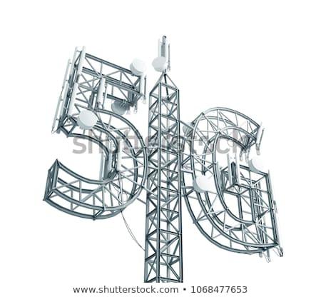 5g phone on white background isolated 3d illustration stock photo © iserg