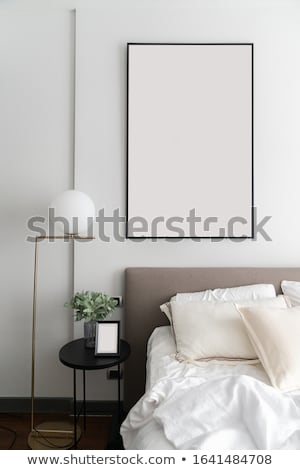 Interior branco cinza confortável quarto casa Foto stock © boggy
