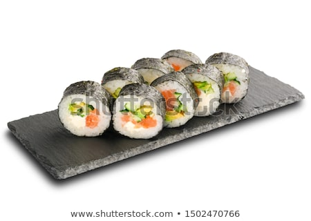 Philadelphia Sushi roll on shale stone Stock photo © Cipariss