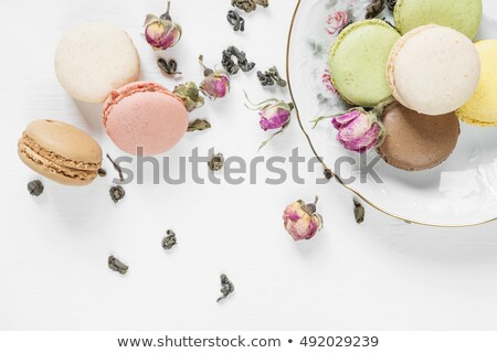 многоцветный · чай · сушат · закрывается · чайная · ложка · белый - Сток-фото © Epitavi