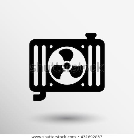 Vektör araba radyatör ikon yalıtılmış beyaz Stok fotoğraf © dashadima