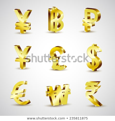 Arany valuta szimbólum yen 3D 3d render Stock fotó © djmilic