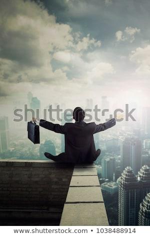 молодые · бизнесмен · портфель · изолированный · белый - Сток-фото © feedough