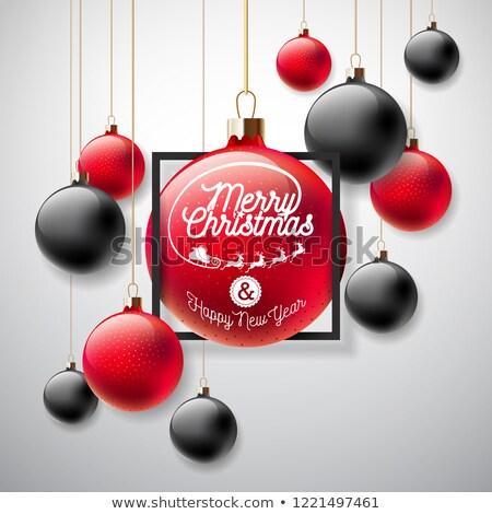 kifejezés · felirat · vektor · vidám · karácsony · üdvözlet - stock fotó © articular