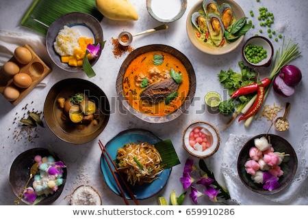 kókusztej · vaj · fekete · rusztikus · organikus · egészséges · étel - stock fotó © alex9500