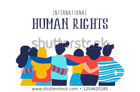 Internacional derechos humanos mes amigo grupo ilustración Foto stock © cienpies