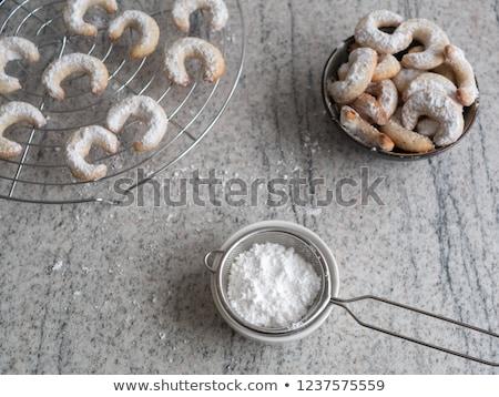 Weihnachten Cookies Tabelle Essen Stock foto © OleksandrO
