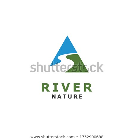 Zöld levél háromszög hegy vektor terv Stock fotó © blaskorizov