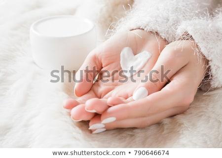 Bőrápolás közelkép portré szép szőke lány Stock fotó © Anna_Om