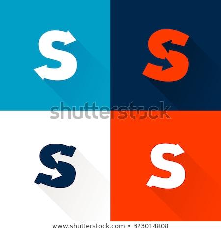 Logo Schreiben blau Symbol negative Raum Stock foto © blaskorizov