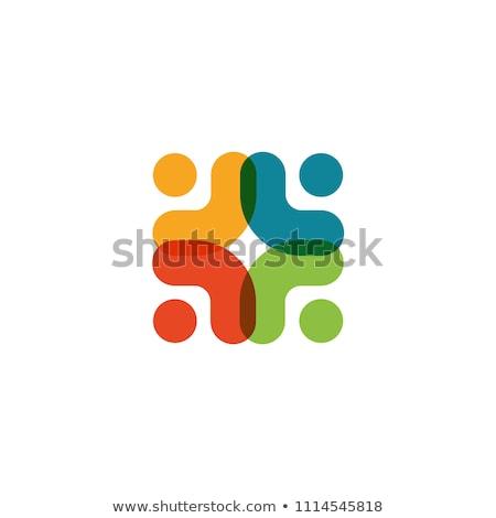 team people logo teamwork vector symbol element Stock photo © blaskorizov