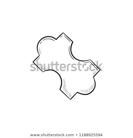 Jig saw puzzle piece hand drawn outline doodle icon. Stock photo © RAStudio