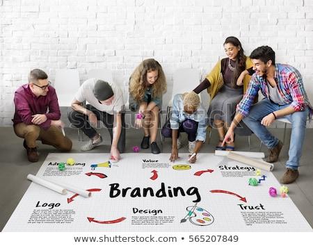 Collaboration idée marketing promotion stratégie vecteur Photo stock © robuart