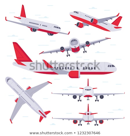 A set of plane on sky Stock photo © colematt