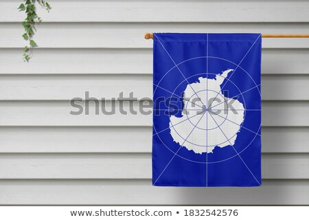 House with flag of antarctica Stock photo © MikhailMishchenko