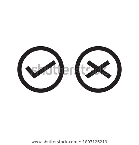 Yes and No Button Icons, vector illustration isolated on white background. Stock photo © kyryloff