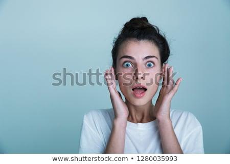 Mulher jovem tanque camisas Foto stock © deandrobot
