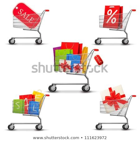 bevásárlószatyor · tele · születésnap · ajándék · ajándékok · karácsony - stock fotó © robuart