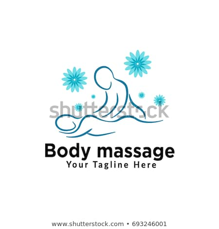 Massage Therapy Woman Masseuse and Man Vector Stock photo © robuart