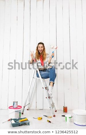 фото женщину 20-х годов сидят Сток-фото © deandrobot