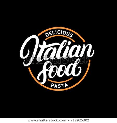 color vintage italy food emblem stock photo © netkov1