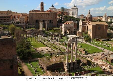 Antigua romana foro coliseo ciudad Roma Foto stock © xbrchx