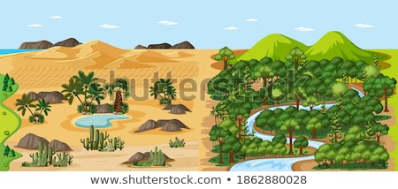 set of desert land stock photo © bluering