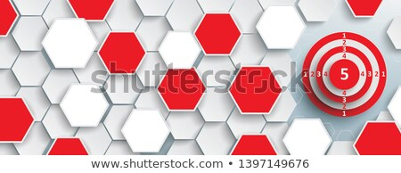 White Hexagon Structure Red Target Header Stock photo © limbi007