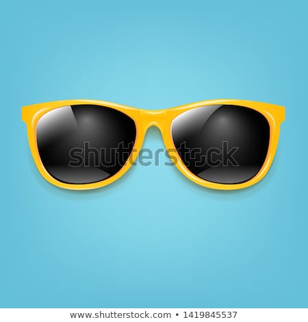 yellow sunglasses with mint background stock photo © barbaliss