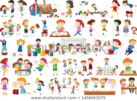 Boys, girls, children in educational fun activty theme Stock photo © bluering