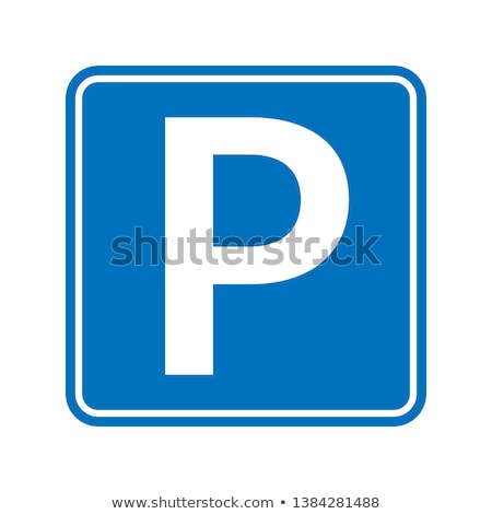 car parking sign board vector sign thin line icon stock photo © pikepicture