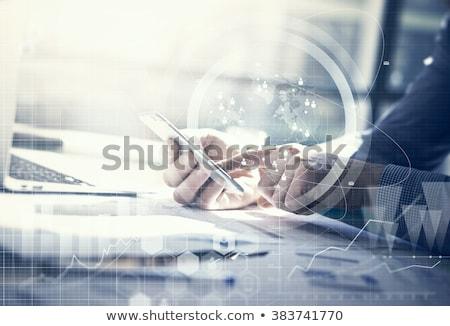 разделение бизнеса данные два Сток-фото © ra2studio