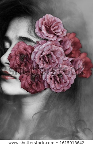 красивой романтические венок цветы позируют Сток-фото © serdechny