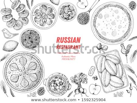 Plaat pannenkoek geïsoleerd witte helling Stockfoto © adamson