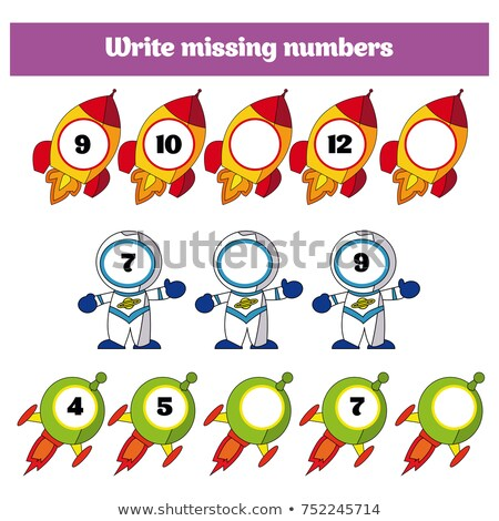 Cálculo educativo ninos blanco negro Cartoon ilustración Foto stock © izakowski