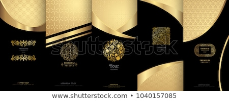 Vector set of luxury ornate gold label Stock photo © blue-pen