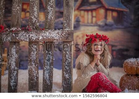 秋 · 肖像 · かわいい · ブロンド · 子 · 少女 - ストックフォト © elenabatkova