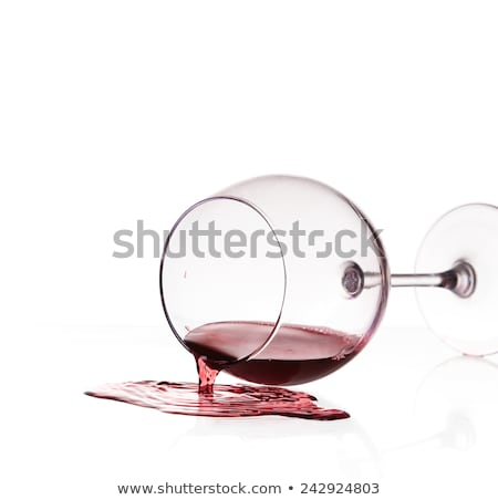 割れたガラス 赤ワイン 孤立した 黒 パーティ ガラス ストックフォト © nomadsoul1