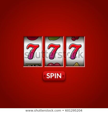 Winner and Casino Machine, Fortune and Win Vector Stock photo © robuart