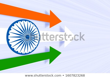 moving forward arrow in indian flag color concept Stock photo © SArts
