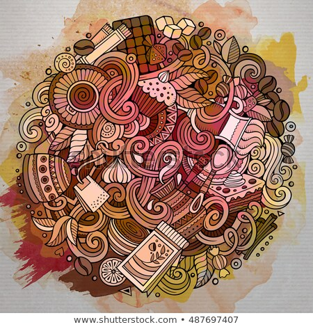 Stockfoto: Cartoon · cafe · coffeeshop · illustratie